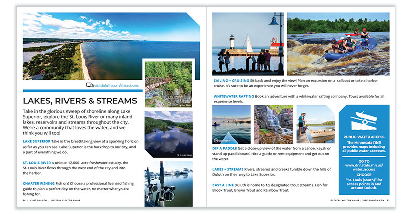 Duluth Visitor Guide: Lakes, Rivers