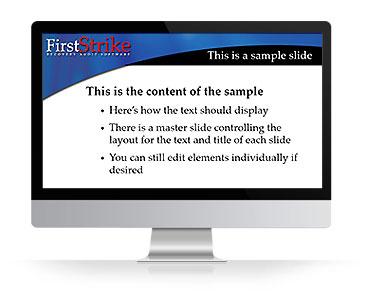 FirstStrike Presentation sample