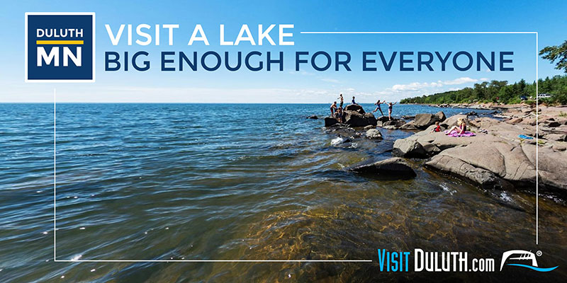 Swim in Lake Superior Billboard