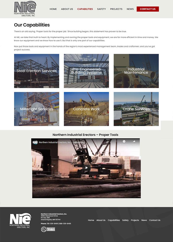 NIE Website Sample