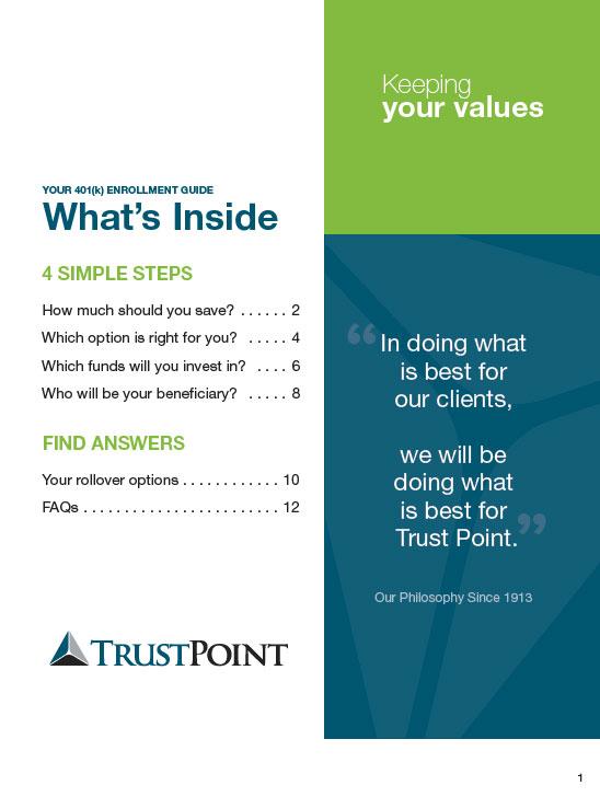 Trust Point: Printed Marketing