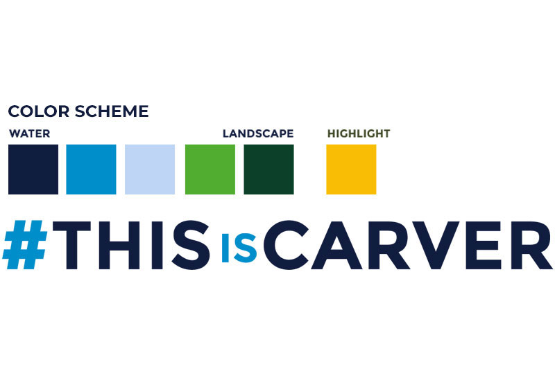 Visit Carver County: color scheme and hashtag