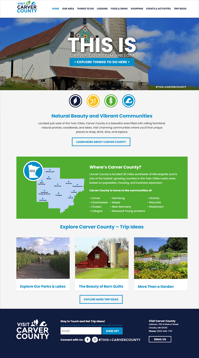 Visit Carver County Website Development