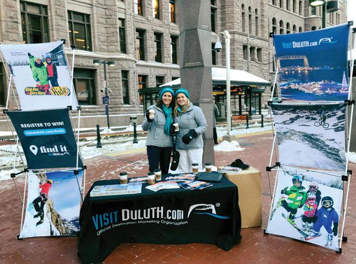 Visit Duluth Train Wrap Live Event