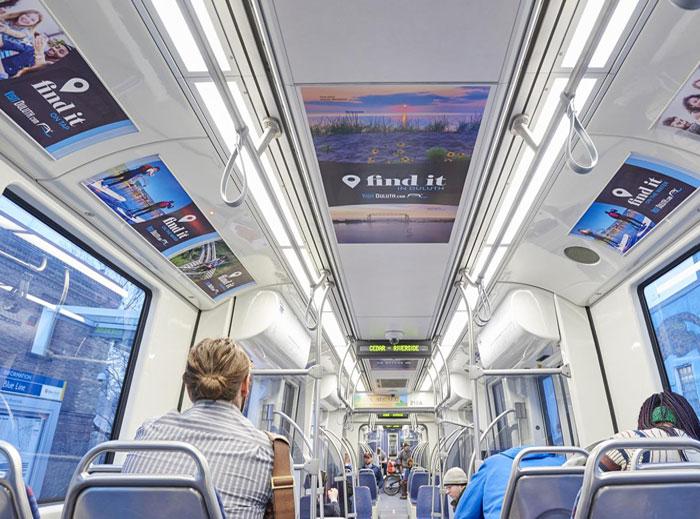 Visit Duluth Summer Train Interior