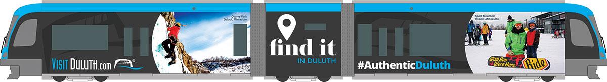 Visit Duluth Light Rail Train
